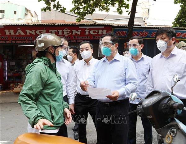 Thủ tướng Phạm Minh Chính thị sát phòng, chống dịch COVID-19 tại Hà Nội